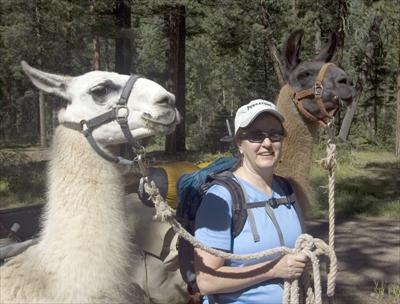Connie, Karem, and Beethoven at the Trailhead.
