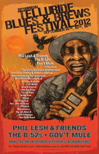 Telluride Blues and Brew Festival Poster.